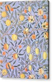 Blue Fruit Acrylic Print by William Morris