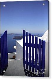 Blue Gate Acrylic Print by Deborah Benbrook