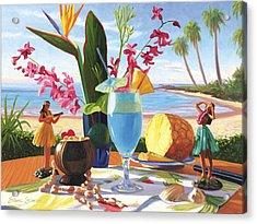 Blue Hawaiian Acrylic Print by Steve Simon