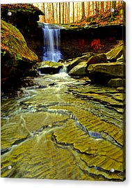 Blue Hen Falls Acrylic Print by Frozen in Time Fine Art Photography