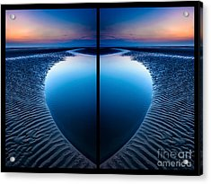 Blue Hour Diptych Acrylic Print by Adrian Evans