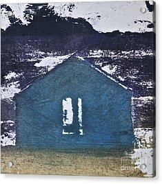 Blue House Acrylic Print by Deborah Talbot - Kostisin