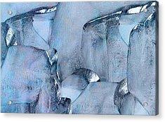 Blue Ice Acrylic Print by Jack Zulli