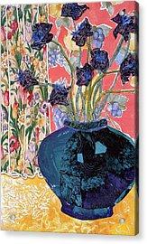 Blue In Blue Acrylic Print by Diane Fine
