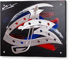 Blue Jackets Acrylic Print by Mac Worthington