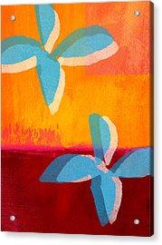 Blue Jasmine Acrylic Print by Linda Woods