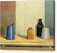 Blue Jug Alone Acrylic Print by William Packer