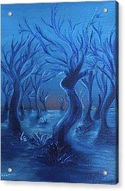 Blue Lady Acrylic Print by Felix Concepcion