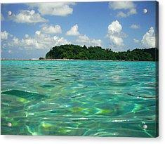 Blue Lagoon Acrylic Print by Carey Chen