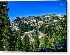 Blue Lake Acrylic Print by Robert Bales