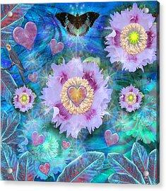 Blue Luminance Acrylic Print by Alixandra Mullins