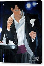 Blue Man Acrylic Print by Eva-Maria Becker