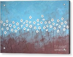 Blue Meadow Acrylic Print by Home Art