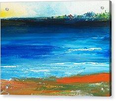 Blue Mist Over Nantucket Island Acrylic Print by Conor Murphy