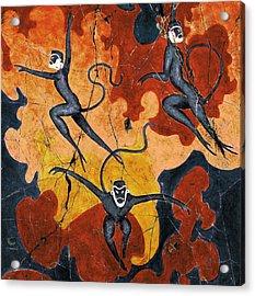 Blue Monkeys No. 8 - Study No. 1 Acrylic Print by Steve Bogdanoff