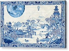 Blue Moon Crazed Acrylic Print by Colin Thompson