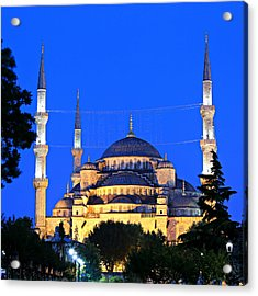 Blue Mosque At Dawn Acrylic Print by Stephen Stookey
