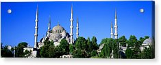 Blue Mosque Istanbul Turkey Acrylic Print by Panoramic Images