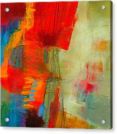 Blue Orange 1 Acrylic Print by Jane Davies