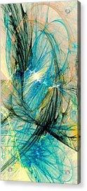 Blue Phoenix Acrylic Print by Anastasiya Malakhova