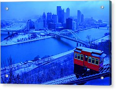 Blue Pittsburgh Acrylic Print by Matt Matthews