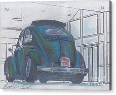 Blue Print Acrylic Print by Sharon Poulton