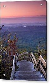 Blue Ridge Morning Acrylic Print by Andrew Soundarajan
