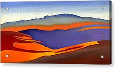 Blue Ridge Mountains East Fall Art Abstract Acrylic Print by Catherine Twomey