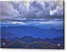 Under The Cloud Cover Blue Ridge Mountains North Carolina Acrylic Print by Reid Callaway