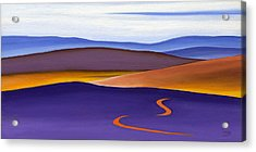 Blue Ridge Orange Mountains Sky And Road In Fall Acrylic Print by Catherine Twomey