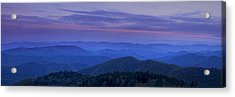 Blue Ridge Panorama At Dusk Acrylic Print by Andrew Soundarajan
