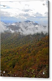 Blue Ridge Parkway Mountain View Acrylic Print by Susan Leggett