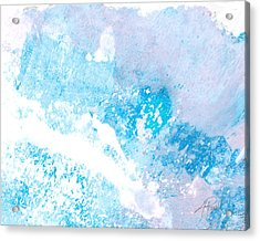 Blue Splash Acrylic Print by Ann Powell