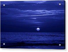 Blue Sunset Acrylic Print by Sandy Keeton