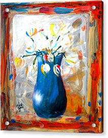Blue Thing Acrylic Print by Marcello Cicchini