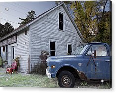Blue Truck Acrylic Print by Jim Baker
