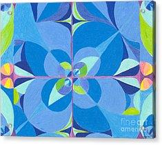 Blue Unity Acrylic Print by Kim Sy Ok