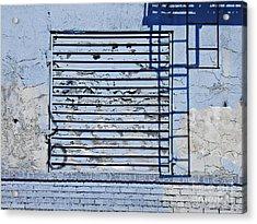 Blue Wall Acrylic Print by Sarah Loft