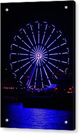 Blue Wheel Of Fortune Acrylic Print by Kym Backland