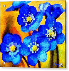 Blue Wild Flowers Tnm Acrylic Print by Vincent DiNovici