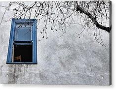 Blue Window Acrylic Print by Diana Shay Diehl
