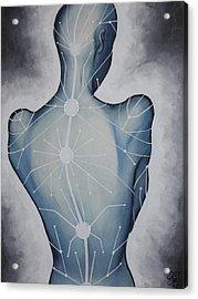 Blue Woman Acrylic Print by Karen Kliethermes
