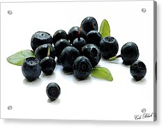 Blueberries Acrylic Print by Cole Black