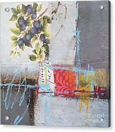 Blueberries Acrylic Print by Elena Nosyreva