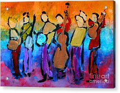 Bluegrass Band Acrylic Print by Mordecai Colodner