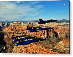 Blues Over Zion Acrylic Print by Benjamin Yeager