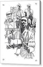 Bluesmen Acrylic Print by J W Kelly