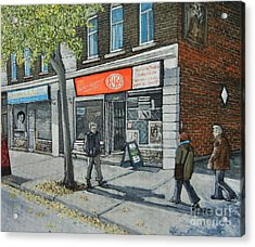 Blvd Monk Ville Emard Acrylic Print by Reb Frost