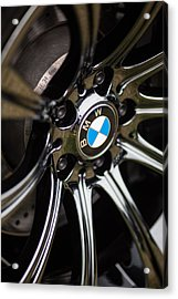 Bmw M5 Black Chrome Wheels Acrylic Print by Mike Reid