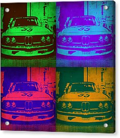 Bmw Racing Pop Art 1 Acrylic Print by Naxart Studio